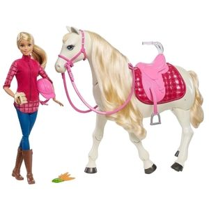 NEW Barbie DreamHorse Doll & Horse